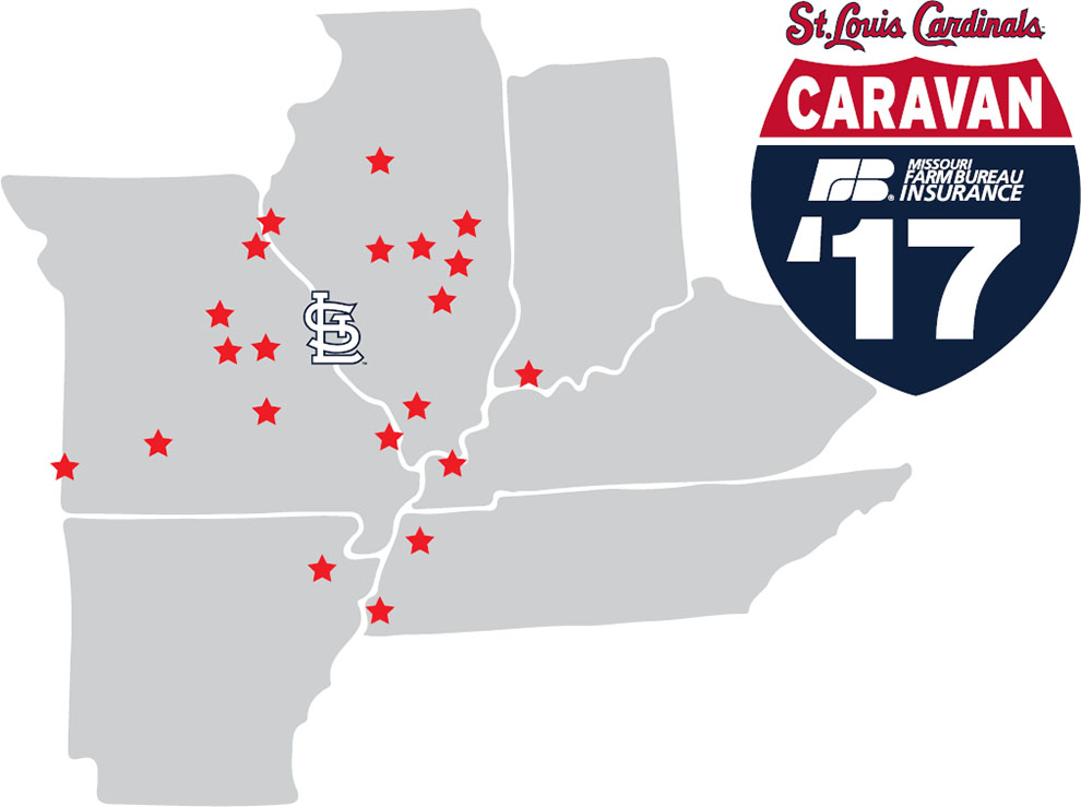 2017 Cardinals Caravan To Visit 21 Cities Over Four Day Period