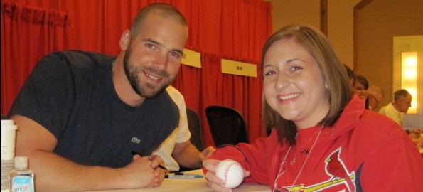 Friend of the site Cadence with Chris Carpenter in 2012