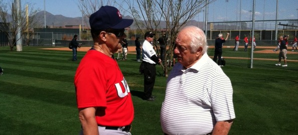 Joe Torre and Tommy Lasorda discuss strategy