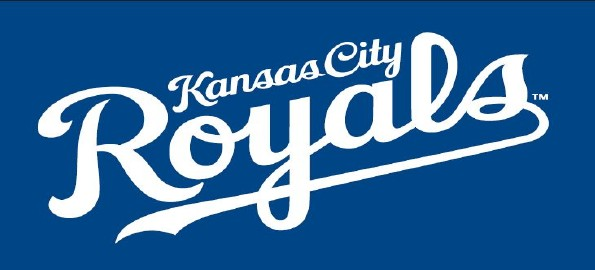 KC Royals logo with blue background