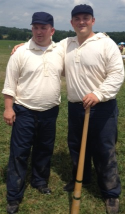 Pete and I at 19th century base ball festival