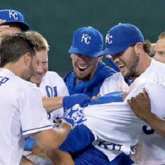 The Royals are in the A.L. playoff hunt