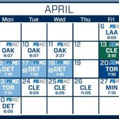Royals schedule breakdown: April