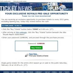 Royals Fans Feel Duped